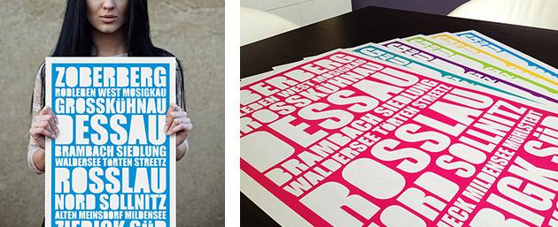 Pressefoto Dessau-Plakat
