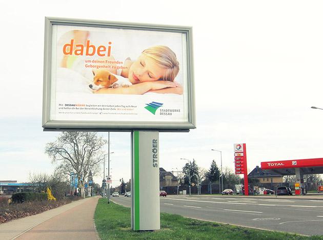 Out-of-Home-Kampagne der Stadtwerke Dessau