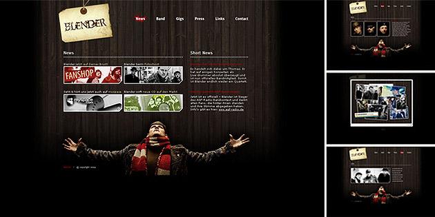 Webdesign & Covergestaltung für Blender