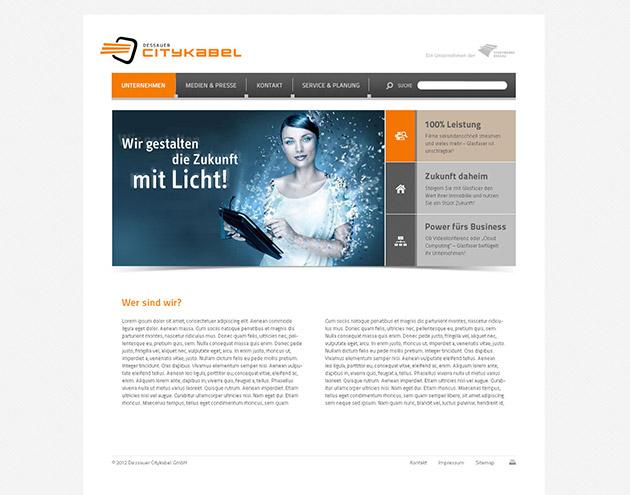 Webdesign für Dessauer Citykabel