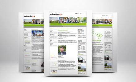 Webseitengestaltung Jobcenter Dessau-Roßlau