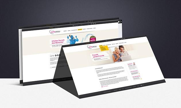 Webdesign für die DATEL Dessau
