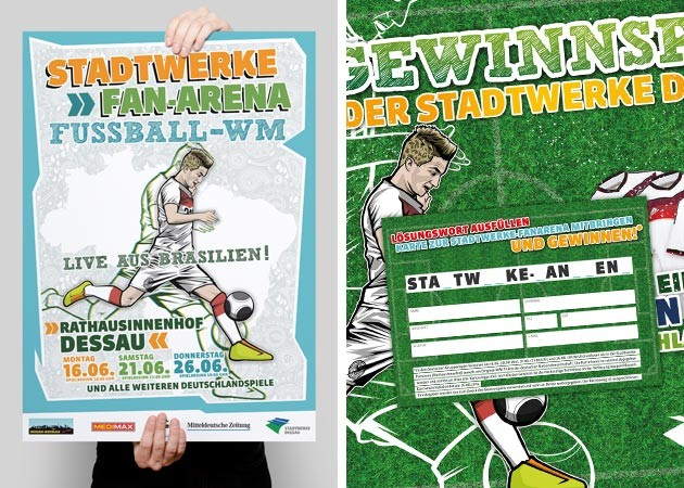 Die Stadtwerke-Fanarena zur WM 2014